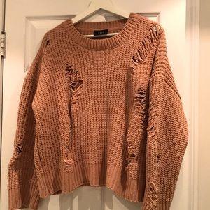 Women's oversized  tan sweater